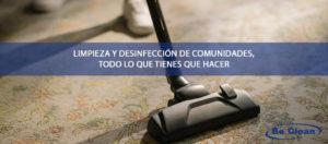 limpieza y desinfección de comunidades